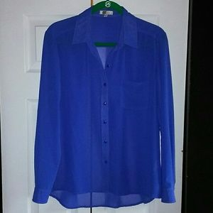 Kut from the Kloth Women Blue Blouse Small